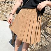 中大尺碼  不對稱百褶短裙~共兩色 - 適XL~4L《 68449HH 》CC-GIRL