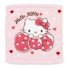 〔小禮堂〕Hello Kitty 純棉無捻紗方形毛巾《粉.抱蝴蝶結》34x36cm.方巾 4901610-15137