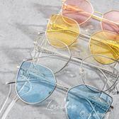 太陽鏡復古金屬女潮鍊條側面翅膀墨鏡男眼鏡中秋節促銷