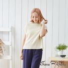 【UFUFU GIRL】可做罩衫穿搭的無袖針織款,背開衩設計特色獨具。