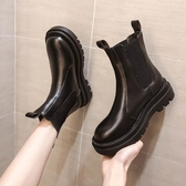 靴子馬丁靴女內增高年新款瘦瘦靴中筒煙筒加絨短靴英倫風秋冬百搭