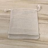 純棉麻布袋抽繩亞麻棉布袋飾品包裝袋首飾袋束口袋(18*15/777-4584)
