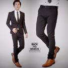 西裝褲 Skinny剪裁顯瘦窄管彈性西裝...