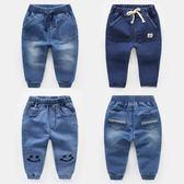 男童牛仔褲2018春裝春秋新款童裝兒童寶寶小童嬰兒女童3歲1長褲子  無糖工作室