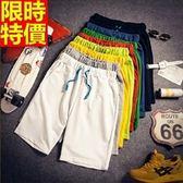 男運動短褲-簡約純色休閒流行男五分褲子9色69r16【時尚巴黎】