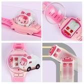 手錶遙控車重力感應兒童玩具手腕迷你遙控男孩小汽車 麥琪精品屋