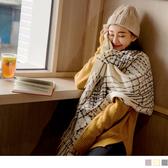 《ZC1699》溫柔色調交織條紋流蘇長圍巾/披肩 OrangeBear