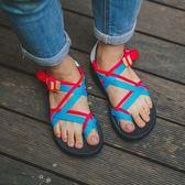 [Chaco] 女 運動涼鞋 舒壓夾腳款雙織帶  鴿子吉他 秀山莊戶外用品旗艦店