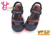 GP涼鞋 大童鞋 水陸兩棲多功能護趾涼鞋I6433#藍橘◆OSOME奧森童鞋/小朋友