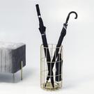 北歐創意鐵藝雨傘架家用落地放傘架酒店大堂雨傘收納架放傘桶商用 中秋節全館免運