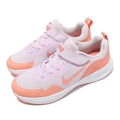 Nike 童鞋 WearAllDay PS 紫 橘 童鞋 中童鞋 魔鬼氈 運動鞋 基本款 【ACS】 CJ3817-500