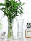 花瓶 玻璃花瓶透明水養富貴竹百合花瓶擺件...