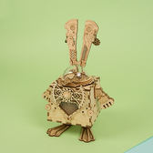 DIY 木質立體拼圖音樂盒 高科技博士兔【RB010】