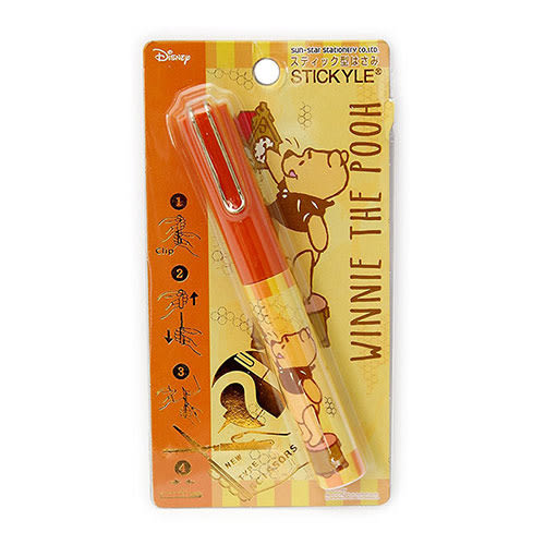《sun-star》小熊維尼 stickyle攜帶型剪刀(時鐘)★funbox生活用品★_UA50129