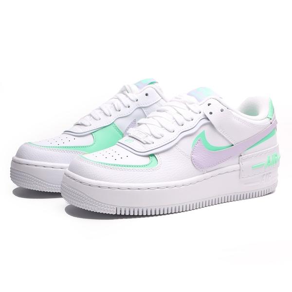 NIKE 休閒鞋 AIR FORCE 1 SHADOW 白紫綠 解構 馬卡龍 女 (布魯克林) CU8591-103