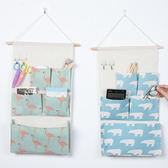 ◄ 家 ►【G46 】棉麻五格收納掛袋儲物袋牆上門口懸掛木質掛桿置物袋掛兜收納