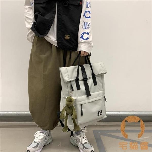 日系筆電包雙肩後背包男女大容量15.6寸韓版書包【宅貓醬】
