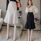 魚尾裙 魚尾裙中式半身裙a字裙高腰女夏天顯瘦長裙一步裙包臀裙 芊墨左岸
