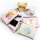 長款皮夾 搞怪手包女小包零錢包學生韓版2020新款可愛大屏手機袋帆布手拿包