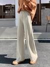 寬管褲 闊腿褲女褲秋冬季休閒百搭高腰垂感寬鬆直筒雪尼爾長褲子 晶彩 99免運