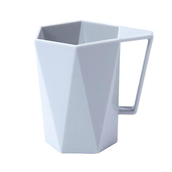 杯子 塑膠杯 洗漱杯 茶杯 水杯 設計 情侶杯 隨手杯  馬克杯 環保 幾何菱形 漱口杯【L050-2】MY COLOR