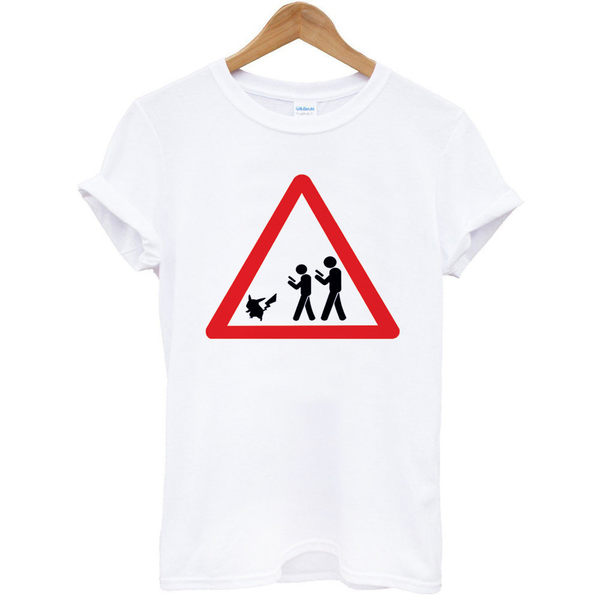 POKEMON WARNING短袖T恤-2色皮卡丘精靈寶可夢神奇寶貝口袋妖怪t 成人Gildan亞洲版型