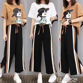 微胖妹妹夏裝女2018新款胖mm仙女洋氣運動套裝減齡顯瘦韓版兩件套-Ifashion