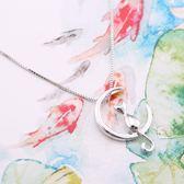 奧芙可愛小貓s925純銀項鍊女氣質甜美鎖骨鍊七夕情人節禮物送女友 盯目家
