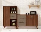 【森可家居】米蘭6.6尺餐櫃 (全組) 8ZX934-5 收納廚房櫃 碗盤碟櫃 木紋質感 工業風 北歐風