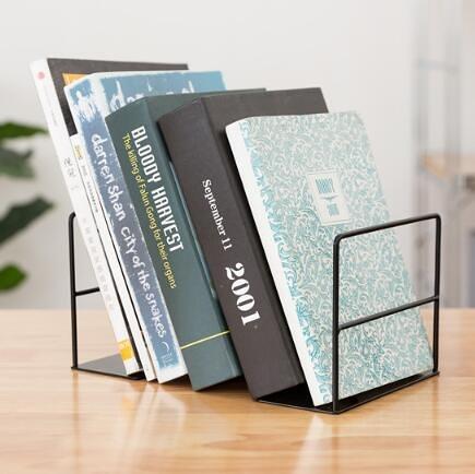 桌面書立架鐵質書本收納置物書立閱讀書靠架學生課桌上簡易小書架 暖心生活館
