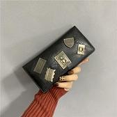 女士钱包女长款复古2021新款潮韩版个性青年多卡位钱夹子母包卡包