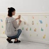 墻紙自粘臥室墻裙防水墻貼自貼家用防撞壁紙【君來佳選】