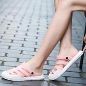 包頭洞洞鞋女夏防滑軟底孕婦拖鞋涼鞋透氣外穿兩用海邊沙灘鞋