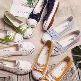 蓓爾淺口帆布鞋 女鞋夏透氣韓版低幫板鞋護士鞋白色小白鞋學生鞋
