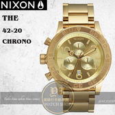 NIXON 實體店The 42-20 Chrono潛水腕錶ALL GOLDA037-502公司貨/世界級潮流指標