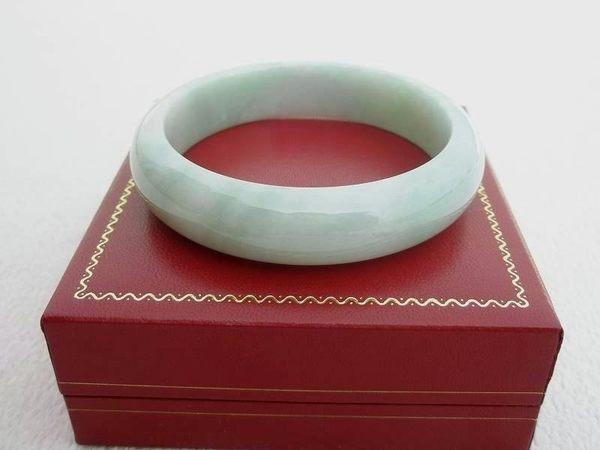 【歡喜心珠寶】【天然緬甸冰種翡翠帶紫手鐲】玉鐲18.5圍.A貨「附保証書」和「寶石鑑定書」