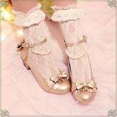 【星樂之歌】原創洛麗塔單鞋Lolita蝴蝶結音符中跟女鞋甜美公主鞋