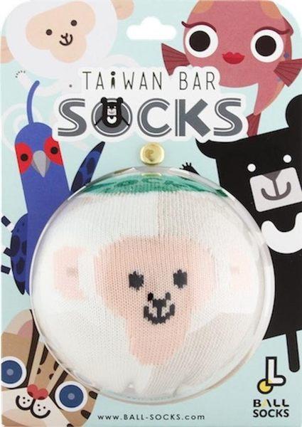 幾何造型球襪/白米【臺灣吧】