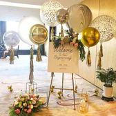 婚禮迎賓水牌架歐式鐵藝油畫架相框托架落地支架展示架婚慶畫架