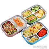 304不銹鋼分格保溫飯盒日式便當盒2單層雙層分隔學生成人兒童餐盒      時尚教主