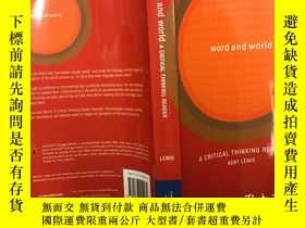 二手書博民逛書店WORD罕見AND WORLD:a critical think