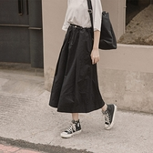 Queen Shop【03020723】抽繩縮腰打摺設計長裙 兩色售*現+預*