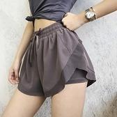 運動短褲女寬鬆夏季速幹跑步健身褲防走光高腰舞蹈瑜伽褲 黛尼時尚精品