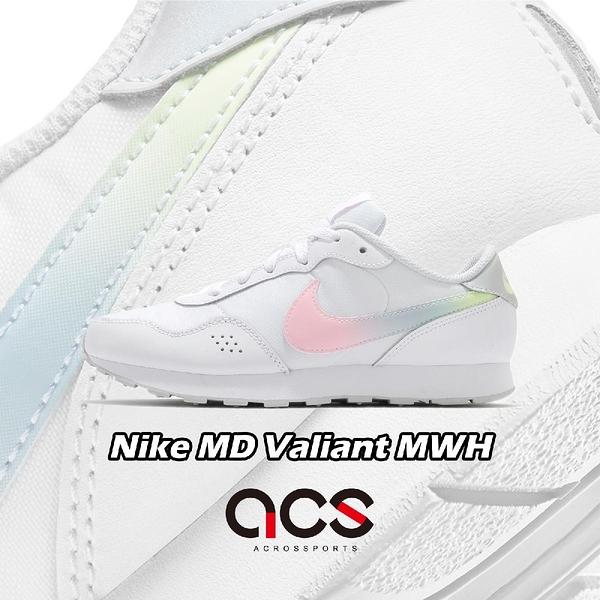 Nike 休閒鞋 MD Valiant MWH GS 白 粉紅 黃 漸層 小白鞋 女鞋【ACS】 DB3743-100