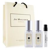 Jo Malone 黑莓子與月桂葉香水(9mlX2)+杏桃花與蜂蜜針管香水 -贈提袋