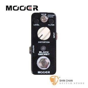 Mooer Black Secret 破音效果器【Distortion Pedal】【Micro系列BS】