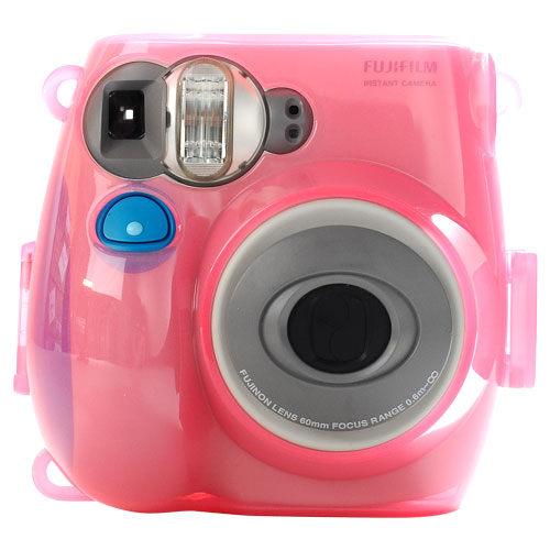 Kamera for instax mini 7s 專用水晶殼 (果凍粉)