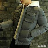 羽絨服短款男士冬季潮流棉衣外套學生棉服面包服韓版棉襖子 QG15696『Bad boy時尚』
