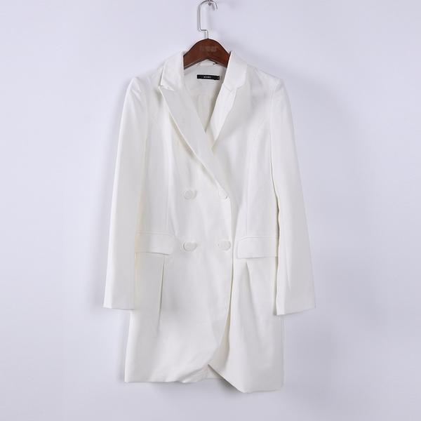 [超豐國際]情春夏裝女裝白色中長款百搭西裝 散87737(1入)