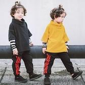 條紋拼接袖兩件式高領長袖上衣 條紋 長袖 上衣 男童 橘魔法 Baby magic 現貨 童裝